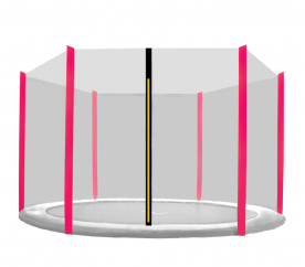 Aga védőháló 305 cm trambulinra 6 rudas Black net / Pink