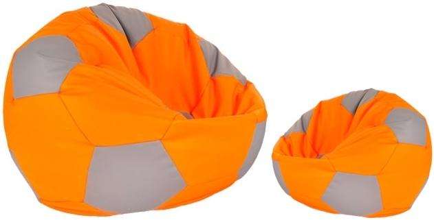 Aga Sedací vrece BALL Farba: Oranžová - Šedá