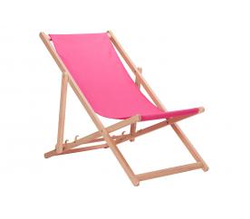 Aga Dřevěné skládací lehátko Pink