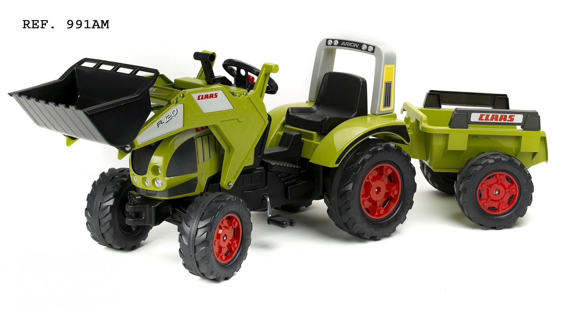 Falk Šlapací traktor CLAAS ARION 540 991AM s vlečkou