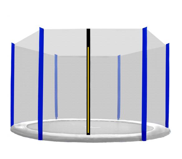Aga Ochranná síť 305 cm na 6 tyčí Black net/ Blue