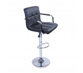 Aga Krzesło barowe z podłokietnikiem BH012 Black