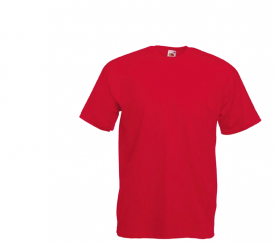 Fruit Of The Loom Tričko VALUEWEIGHT T Red