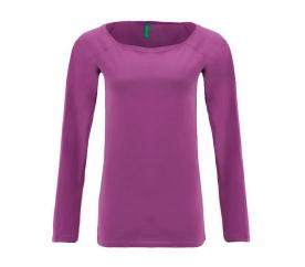 Benetton női Hosszú ujjú póló lila színü nyomtatás nélkül