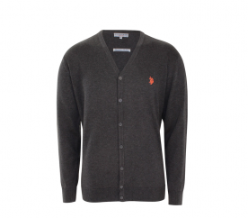 U.S. Polo ASSN. Kardigan V-Neck Anthrazit