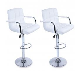 Tresko 2x Barová židle BH016 White