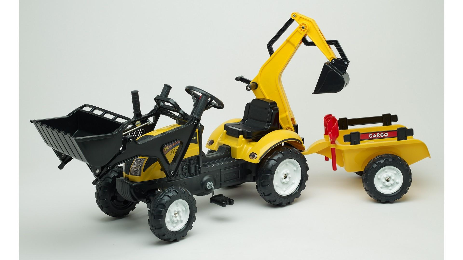 Falk Šlapací traktor RANCH TRAC 2055CN s vlečkou