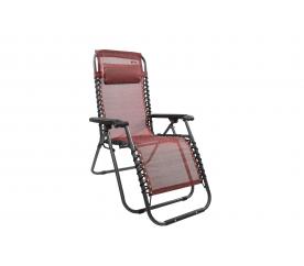 Linder Exclusiv Krzesło leżak ogrodowy AERO GRT  Red-Black