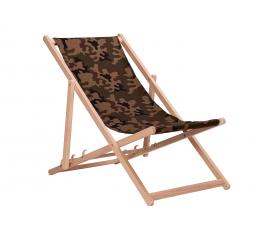 Aga Dřevěné skládací lehátko Camouflage Brown