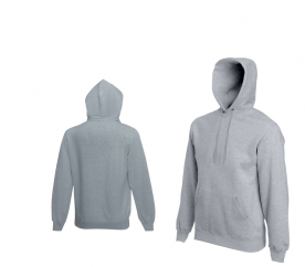 Fruit Of The Loom HOODED SWEAT Heather Grey pulóver