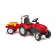 Falk Šlapací traktor FARM LANDER Z240X Red 2020A s vlečkou