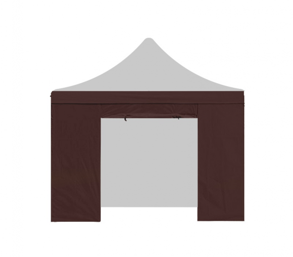 Aga Bočnice s dveřmi PARTY 3x3 m Brown