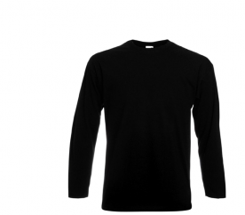 Fruit Of The Loom Tričko VALUEWEIGHT Longsleeve Black
