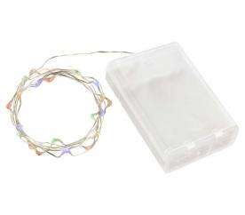 Linder Exclusiv karácsonyi lánc elemre 30 LED  szines