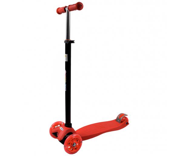 Bobo-San Dětská třikolová koloběžka s LED kolečky Red