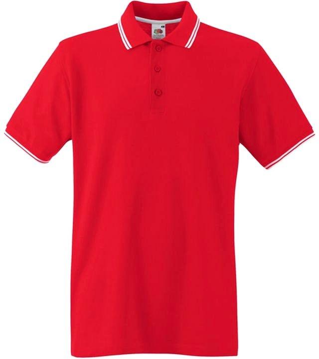 06ac084620 ... Fruit Of The Loom TIPPED POLO Red White galléros férfi póló. SXXXL