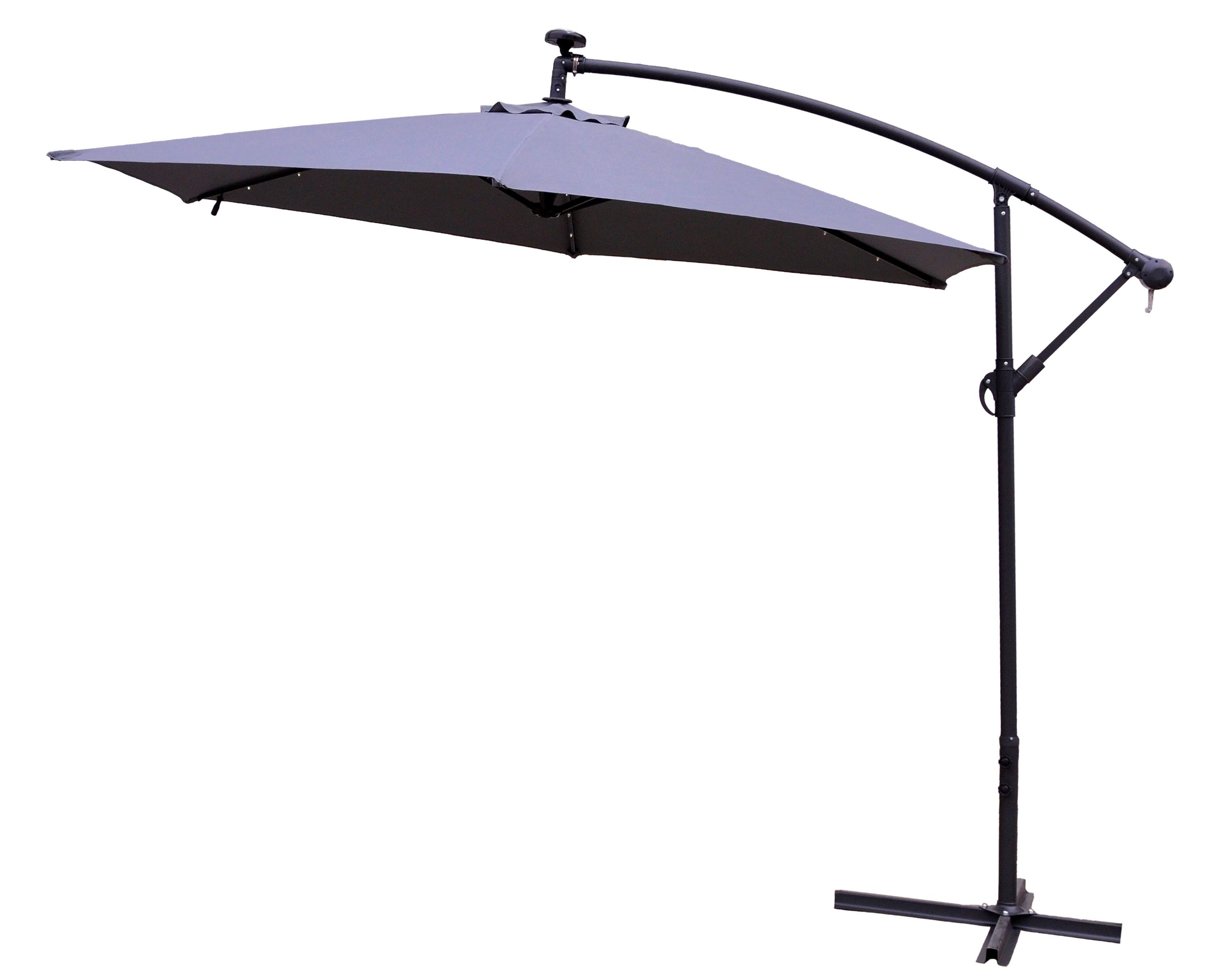 Aga Zahradní slunečník EXCLUSIV LED 300 cm Dark Grey