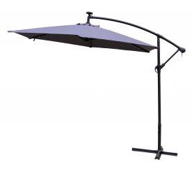 Aga Zahradní slunečník konzolový EXCLUSIV LED 300 cm Dark Grey