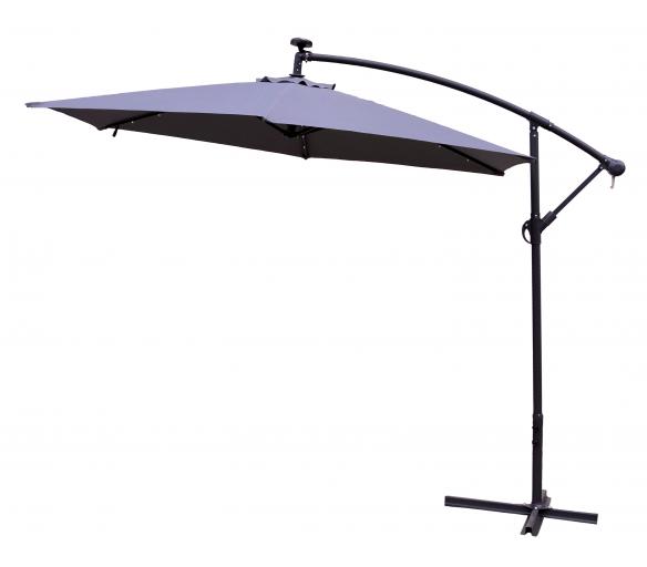 AGA EXCLUSIV LED 300 cm Dark Grey függő napernyő