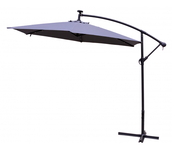 Aga Záhradný slnečník konzolový EXCLUSIV LED 300 cm Dark Grey