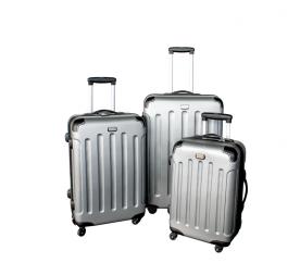 Linder Exclusiv Zestaw walizek LUXURY MC3001 S,M,L Silver