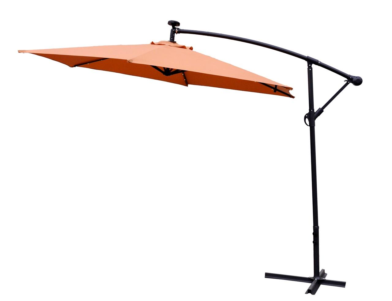 Aga Zahradní slunečník EXCLUSIV LED 300 cm Orange