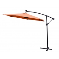 Aga Zahradní slunečník konzolový EXCLUSIV LED 300 cm Orange