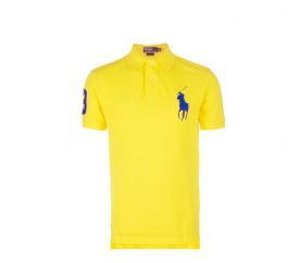Ralph Lauren Dziecięca koszulka Polo Yellow Big Pony