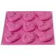 Silikomart Forma na pečení 9 dílná sada růžová