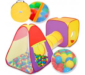 Kiduku Dětský hrací stan se spojovacím tunelem