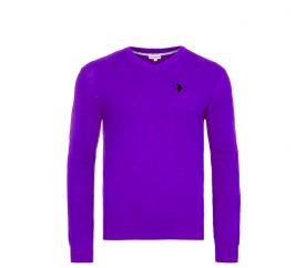 U.S. Polo ASSN. Sweter V-NECK Purple