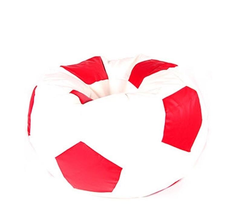 Aga Sedací vak BALL Farba: Biela - Červená