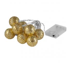Linder Exclusiv karácsonyi LED világítás 10 arany gömb - meleg fehér