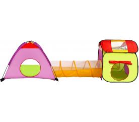 Aga4Kids Detský hrací stan s tunelom Green