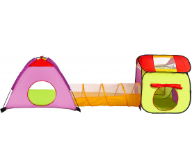 Aga4Kids Dětský hrací stan s tunelem Green