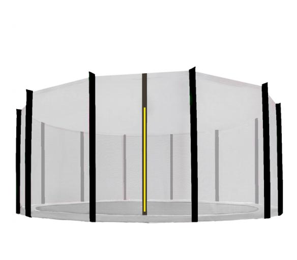 Aga Ochranná síť 400 cm na 12 tyčí Black net / Black