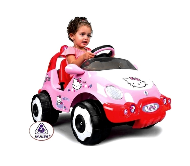 Injusa Elektrické autíčko RACING CAR HELLO KITTY 6V