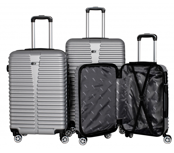 Aga Travel Set kufrů MC3078 S,M,L Silver