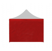 Aga oldalfal PARTY 2x2 m RED