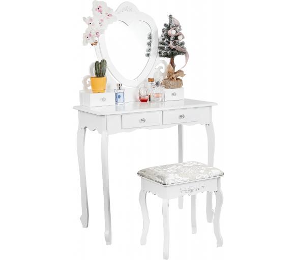 Aga Toaletní stolek se zrcadlem + taburetem