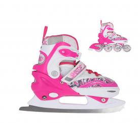 Nils Extreme Detské korčule 2v1 NH10927 Pink