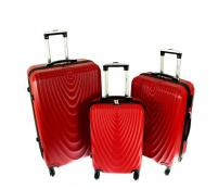 RGL Cestovní kufry HC663 XXL,XL,L Red