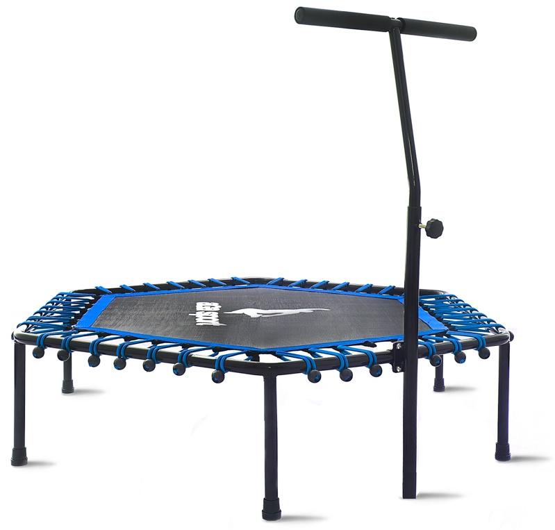 Aga Fitness 130 cm trambulin Blue + kapaszkodó