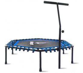 Aga FITNESS Trampolin 130 cm Blau + Geländer