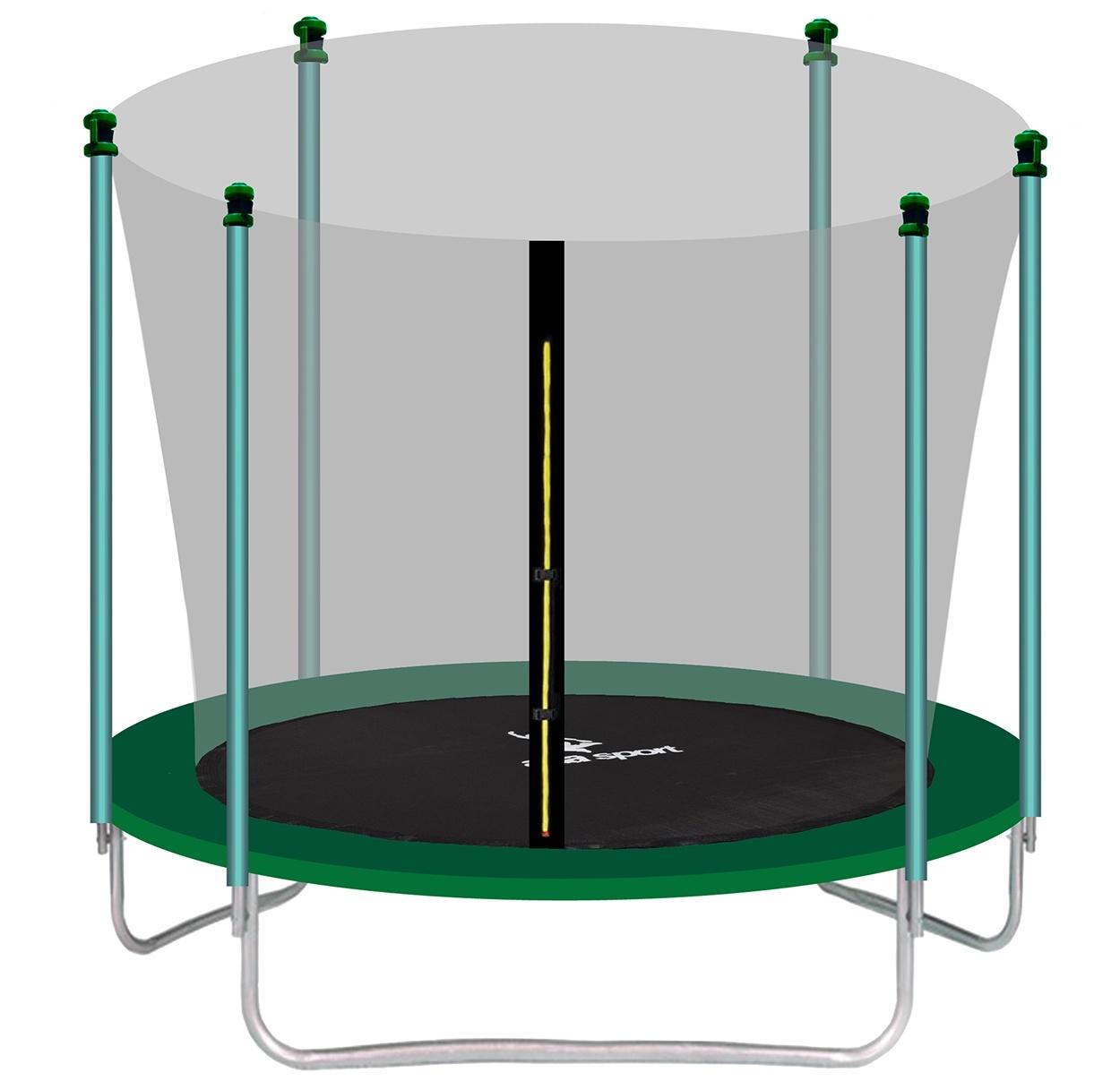 Aga SPORT FIT Trampolína 180 cm Dark Green + vnitřní ochranná síť 2018