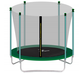 Aga SPORT FIT Trampolína 180 cm Dark Green + vnútorná ochranná sieť
