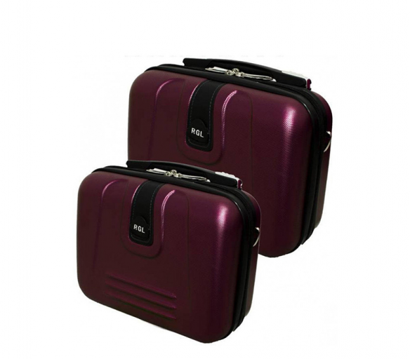 RGL Cestovní kosmetické kufry 910 XL,L Burgundy