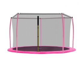 Aga Siatka do trampoliny 430 cm 14ft wewnętrzna na 6 słupków Black (ring)