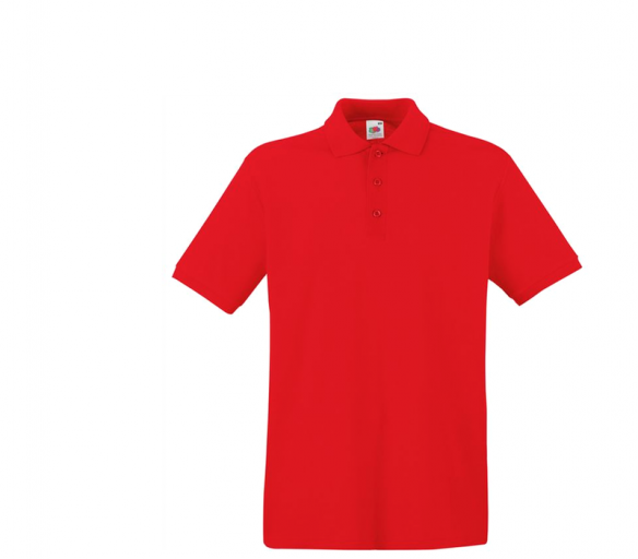 Fruit Of The Loom Tričko PREMIUM POLO Red