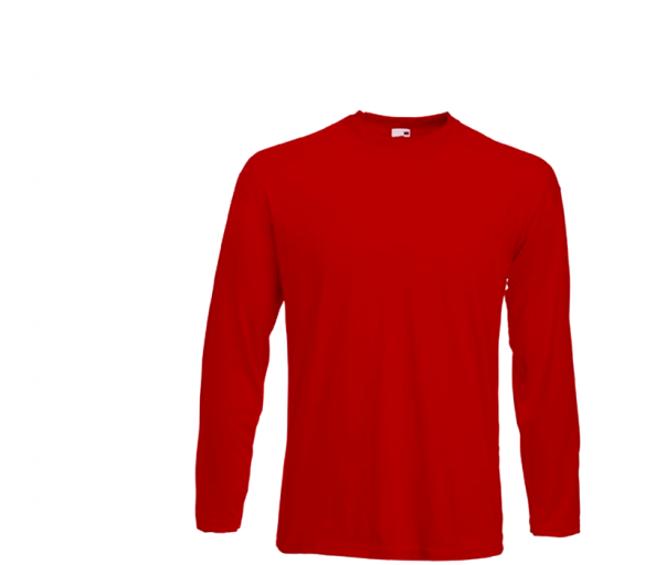 Fruit Of The Loom Tričko VALUEWEIGHT Longsleeve Red